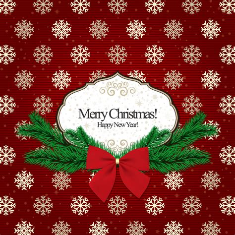 classical snowflake christmas cards vector  vector graphic