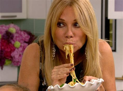 kathie lee gifford creams kathie lee gifford from celebrities eating noodles e news