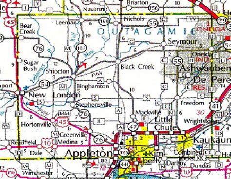 Outagamie County Records Outagamie County Wigenweb County Road Map