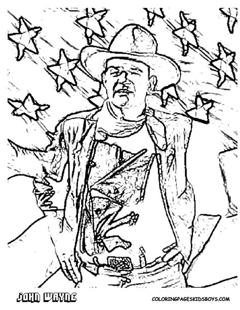 tough guy film stars coloring mcqueen peck the duke