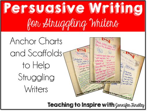 Teaching Persuasive Essay Writing by Persuasive Writing Anchor Charts For Struggling Writers Lots Of Pictures Teaching To Inspire