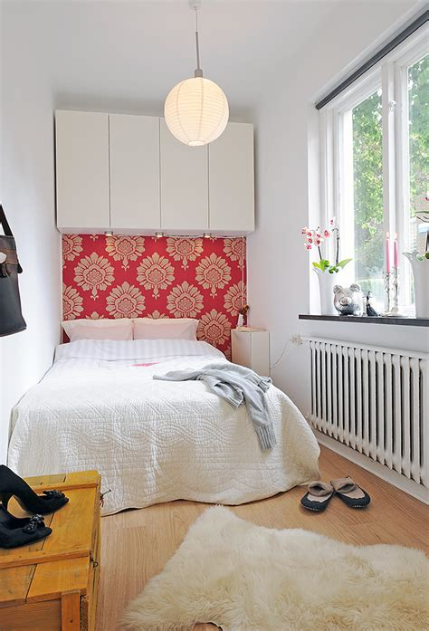 Gorgeous Small Bedrooms by The Lovely Side Wallpaper Instead Of Headboards