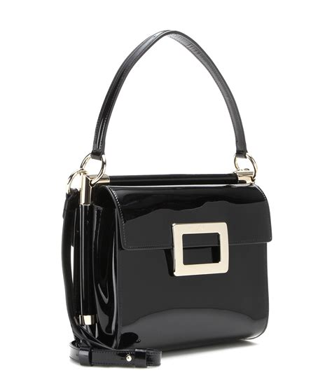 Small Patent Bay Shoulder Bag by Lyst Roger Vivier Miss Carr 233 Small Patent Leather