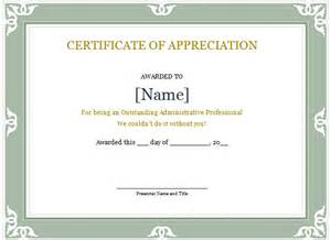 free certificate of appreciation templates for word word certificate template 31 free sles