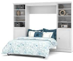 wall storage bedroom sets shop houzz bestar 109 quot full wall bed with storage unit white bedroom furniture sets