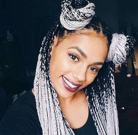 black to grey ombre box braids hairstyles 150 best ombre braids images on pinterest box braids