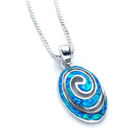Shopping Charm Necklace by Wave Spiral Necklace Landing Company