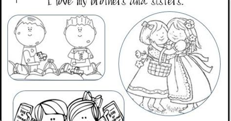 lds activity ideas i love my brothers and sisters