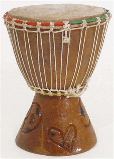 Handmade Traditional Musical Instruments - 7 quot small authentic handmade djembe drum