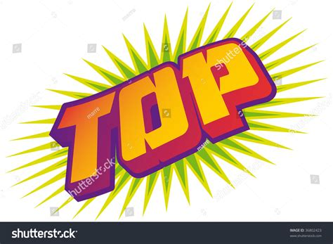 the word top comic style stock vector illustration 36802423