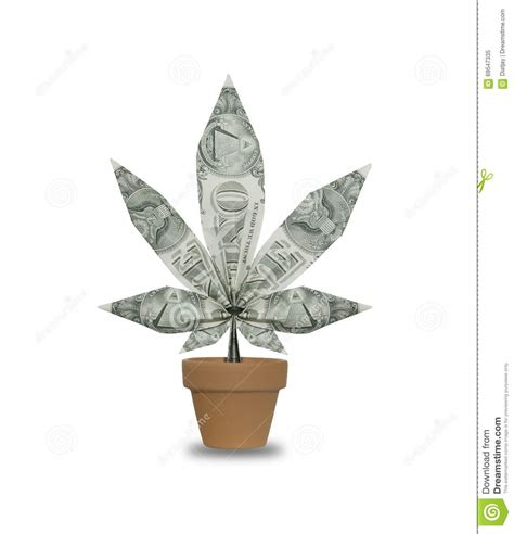 Origami Pot Leaf - a concept photograph of an origami cannabis leaf made of