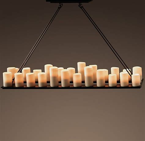 Rectangle Candle Chandelier Pillar Candle Rectangular Chandelier 59 Quot Hytta Pinterest Rectangular Chandelier Pillar