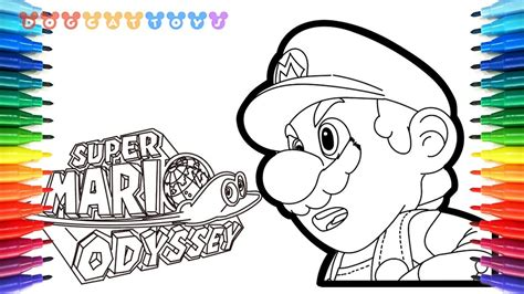 coloring pages mario odyssey how to draw mario odyssey super mario 57 drawing