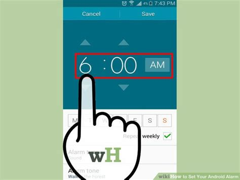 how to set alarm on android how to set your android alarm 10 steps with pictures
