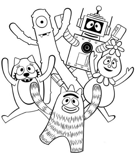 Printable Coloring Pages Yo Gabba Gabba | yo gabba gabba coloring pages coloring pages to print