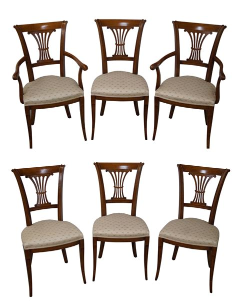 Country Style Dining Chairs Country Style Italian Dining Chairs 6 Chairish