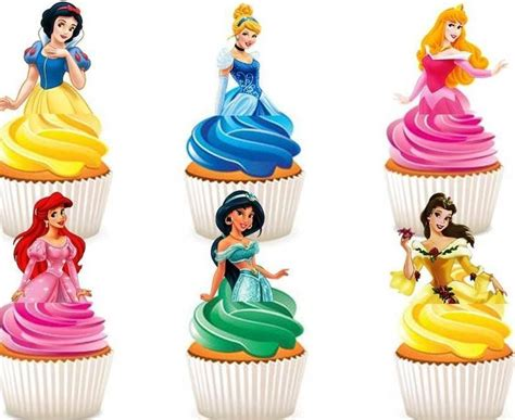 Topper Cake Topper Cupcake Disney Princess disney princesses edible stand up wafer paper cupcake toppers