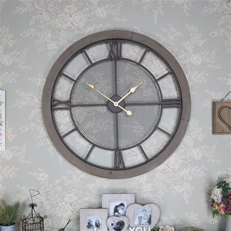 extra large wooden station wall clock melody maison 174 extra large rustic wall clock melody maison 174