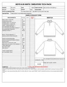 Garment Spec Sheet by Designers Nexus How To Spec A Garment Ebook Apparel