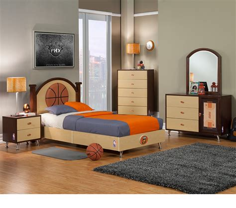 Basketball Bedroom by Dreamfurniture Nba Basketball Suns Bedroom