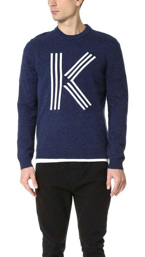 Sweater Kenzo Lyst Kenzo Classic K Knit Crew Sweater In Blue For