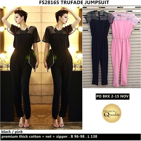 Kaos Bangkok Import baju bordir import thailand trufade jumpsuit supplier baju