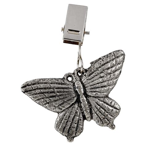 4 or 8 metal tablecloth weights butterfly dragon clip on picnic bbq charms ebay