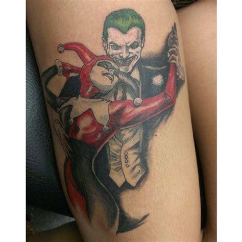 joker harley quinn tattoo 65 cool harley quinn tattoos