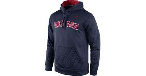 St Boston Hodie Navy nike s boston sox speed ko hoodie in blue for lyst