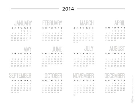 printable calendar at a glance year at a glance calendar template 2015 page 2 new