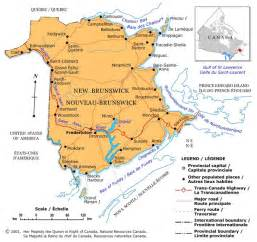 maps new brunswick canada new brunswick political map