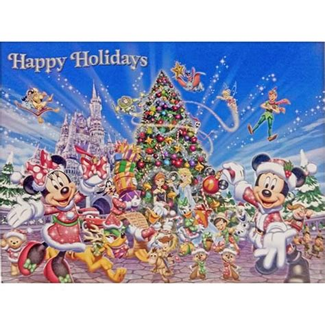 your wdw store disney cards mickey and friends happy holidays
