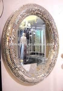 bathroom mirror mosaic 2015 round or oval silver decorative wall framed glass