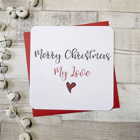 merry christmas  love heart card  parsy card  notonthehighstreetcom