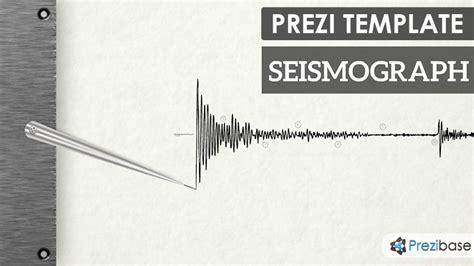 templates powerpoint earthquake seismograph prezi template prezibase