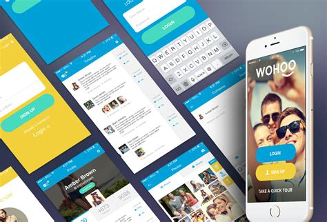 free mobile apps wohoo free mobile app ui kit graphicsfuel