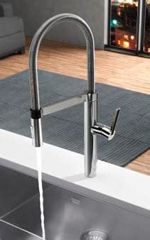 Blanco 441331 Single Lever Pull Out Kitchen Faucet with 8