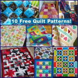 10 free quilt patterns with summer color