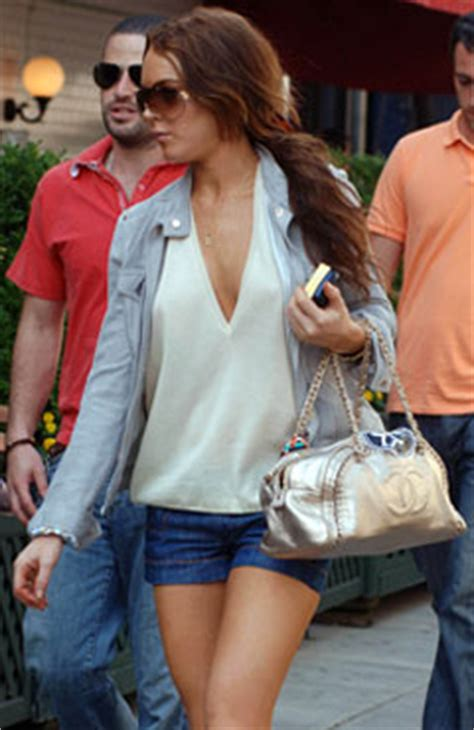 Lindsay Lohan Buys More Chanel by Designer Handbag Bible 187 Chanel Luxury Ligne Bowler Bag