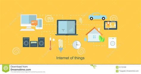 smart home network design internet of things icon flat design stock vector image