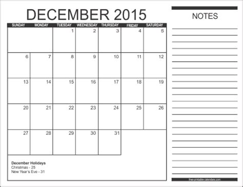 printable monthly calendar for december 2015 2015 free printable calendars free printable calendars