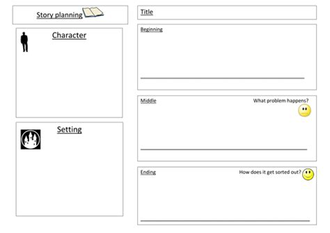 story template ks1 template for writing a simple story plan by jubeds