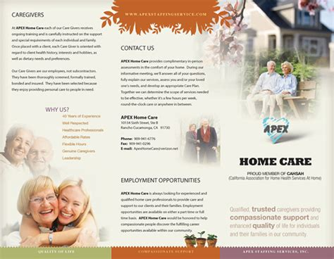 apex staffing brochure print on behance