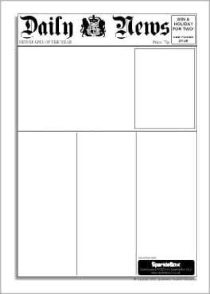 newspaper templates word excel  formats