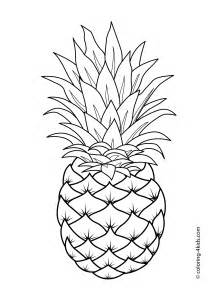 pineapple color pineapple fruits coloring pages for printable free