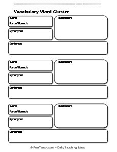vocabulary card template 4 to a page vocabulary sketches flashcard template freeology