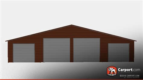Steel Building Garage Doors by Steel Building With Four Garage Doors 48 X 26 X 12