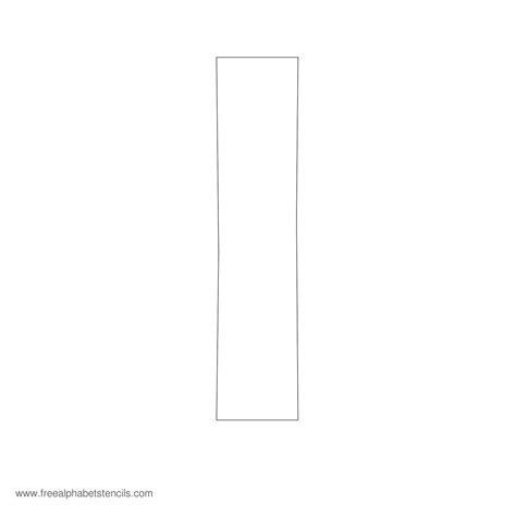 printable stencil letter i large alphabet stencils freealphabetstencils com
