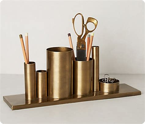 gold desk organizer gold desk organizer from upcycled materials