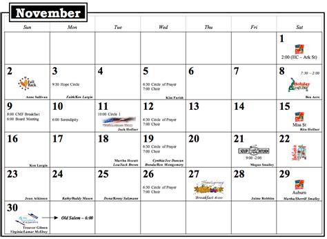November Calendar Mosoklali November Calendar